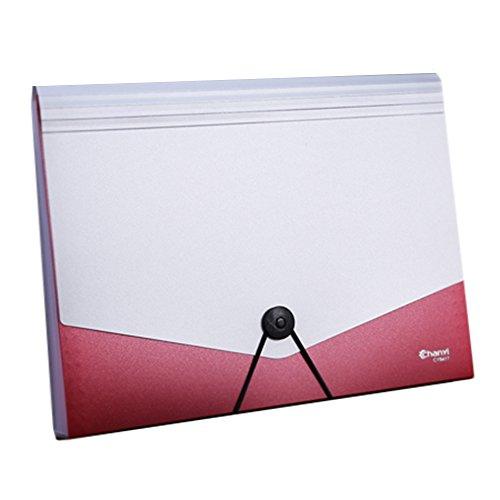 ZDDAB A4 Archiv Ordner Große Space Design Expansion Ordner A4 Seil Schnalle Aktentasche für Business Home Office Dateien Akkordeon File Storage Bag (Farbe : Grün) (Von Dateien Expansion)
