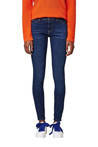 ESPRIT Damen Skinny Jeans 038EE1B025, Blau (Blue Dark Wash 901), 28/32