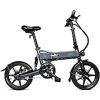 Bicicletta Pieghevole Bloomma/E-Bike/Scooter da 16 Pollici Ruota Batteria al Litio Bike Fit Camping FIIDO D2