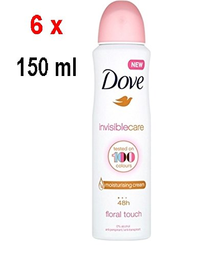 Dove Deospray Women - Invisible Care Floral Touch - 6er Pack (6 x 150 ml)