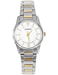 Citizen Damen-Armbanduhr XS Analog Quarz Edelstahl beschichtet ER0184-53A
