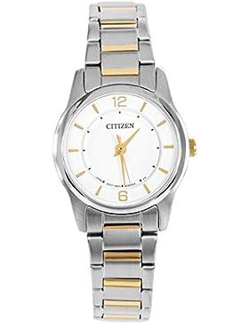 Citizen Damen-Armbanduhr Analog Quarz Edelstahl beschichtet ER0184-53A