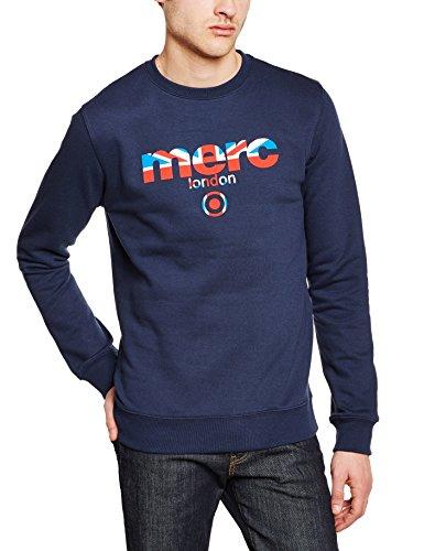 Merc of London Herren Sweatshirt Otto Blau (Navy 2)