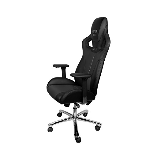 For Sale E-Blue Cobra Gaming Chair PU Leather Office Ergonomic Computer eSports Desk Executive EEC308BK Black Online