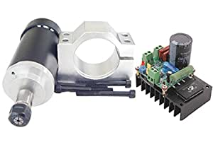 400 w cnc spindel motor kits pwm speed controller mit halterung f r gravur fr sen. Black Bedroom Furniture Sets. Home Design Ideas