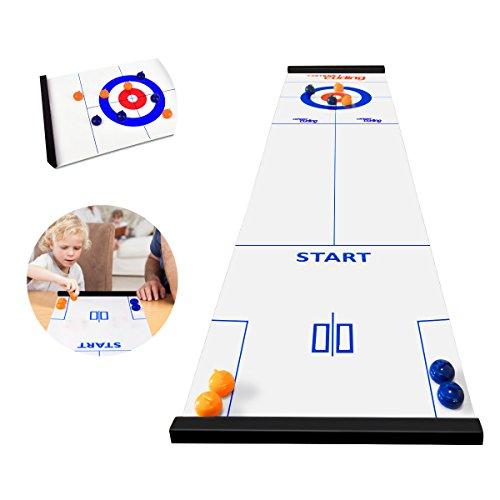 Table Mini Boule de Curling Jouets interactifs éducatifs pour Enfants Jouets Adultes Anti-Stress Hockey sur Table