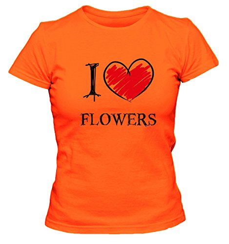 I Love Emos Fun Damen T-Shirt, Größe:XL;Farbe:orange