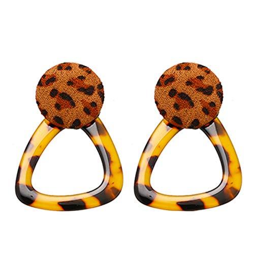 YUJUEE Ohrringe Für Damen Exquisite Personalisierte Leopard Essigsäure Baumeln Charme Geometrische Taste Geburtstag, 03.