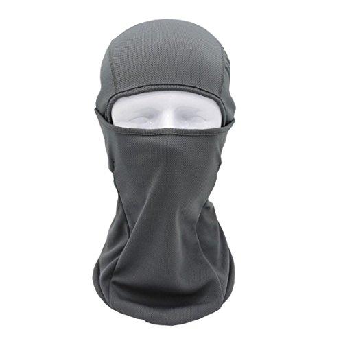 Sturmhauben SOMESUN Taktische Bandanas Motorrad Gesichtsmasken Radfahren Jagd Outdoor Ski Vollmaske Helm (grau)