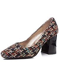 7b89650c3c5b4 Adong Zapatos Casuales de Las Mujeres de la Boca Poco Profundos Talones  Cuadrados Hechos a Mano el Nuevo Partido Diferentes Tipos de…