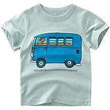 Reborn Bebe, Zolimx Bebé Niños Camisetas Dibujos Animados Autobús Imprimir Tops Trajes Ropa Por 1-7 años
