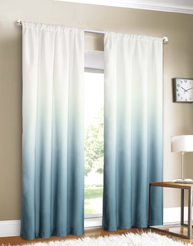Dainty Home Shades 2-Window Panel Rod Pocket Set, 40 von 84 Zoll, blau (Home Dainty)