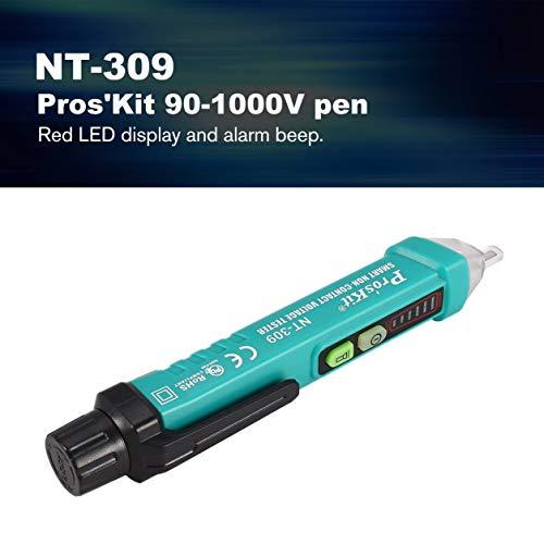 Dailyinshop Pros'Kit NT-306 90-1000V berührungslose AC Spannungsprüfer Tester Test Bleistift (Farbe: grün)
