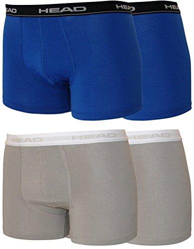 Head 4er Pack Herren Boxershorts Sparpack ohne Eingriff 841001001 2er blau (021)/2er grau(400)