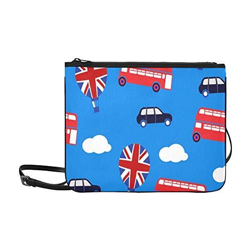AGIRL Blaue britische kundenspezifische hochwertige Nylon-dünne Clutch-Tasche Umhängetasche mit Umhängetasche