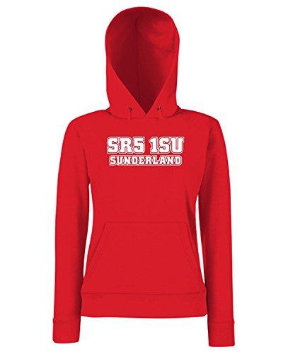 T-Shirtshock - Sweats a capuche Femme WC1245 sunderland-postcode-tshirt design Rouge