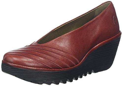 Fly London Yaku063fly, Zapatos de tacón para Mujer, Rojo Red 008, 39 EU