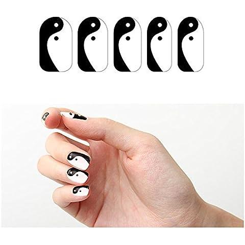 Tattify Black And White Nail Wraps - Yin-Yang (Set of 22) by Tattify