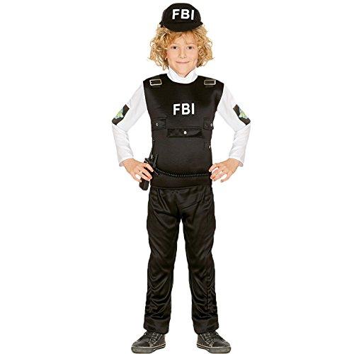 Kostüm Swat Cop - Guirca FBI Agent Kostüm für Kinder Polizist Polizeikostüm Cop SEK SWAT Gr. 110-152, Größe:140/146
