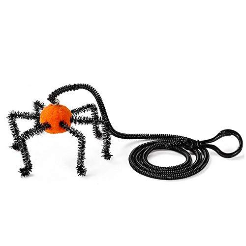 AOLVO Katzenspielzeug zum Spielen, für Katzen, Halloween, Spinnen-Fledermaus-Design, Federn, interaktives Spielzeug mit Glocke, hält die Katze gesund und geistiger Komfort (Stick-ball-fledermaus)