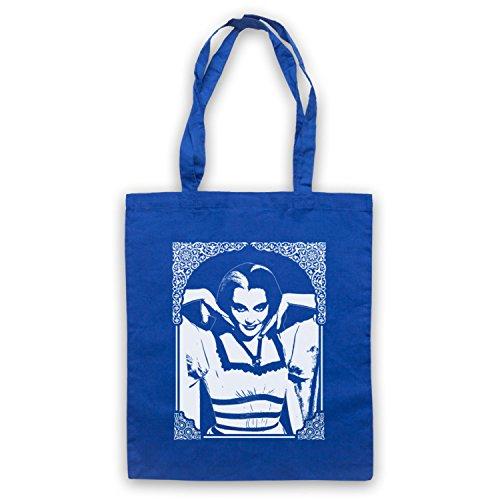 Inspiriert durch Munsters Lily Gothic Inoffiziell Umhangetaschen Blau