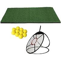 MagiDeal Red de Práctica con 10 Piezas de Bolas de Golf y Estera para Entrenamiento para Golfista
