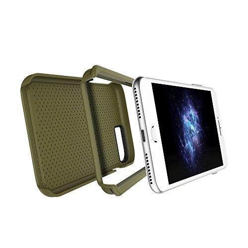 """Apple iPhone 7 & iPhone 6 / 6s 4.7"""" case, Prodigee [Breeze] Red Schutz dünn Hülle Stück dünner dünnfor Cell phone case with textured back 2-piece design Green"""