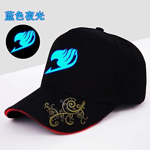 Kostüm Männlich Dämon - xiaoshicun Anime Ling verflucht blau leuchtenden Baseball-Hut Neue Visier männlichen Studenten Kappe blauen unteren Dämon Schwanz einstellbar