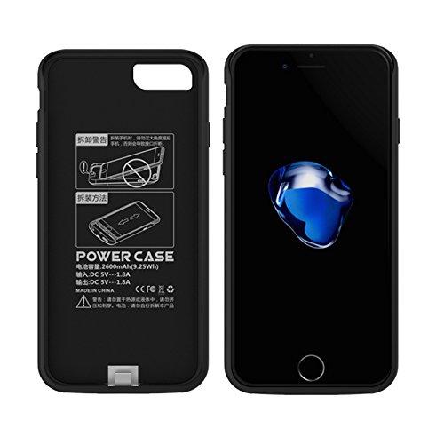 CaseforYou Batteriefach Hülle iPhone 7 5200mAh Taschen Schalen Akkus Rechargeable External Battery Backup Protective Case Power Bank Charger Cover Batteria Schützend Batterie-Schutz für iPhone 7 (Blac Rose Gold