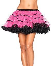 Leg Avenue Striped Tulle Tutu Petticoat Skirt - One Size A1711