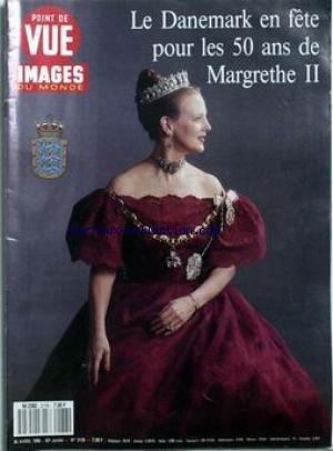 POINT DE VUE IMAGES DU MONDE [No 2178] du 26/04/1990 - LE DANEMARK EN FETE POUR LES 50 ANS DE MARGRETHE II.