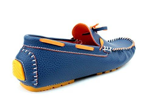 NUOVO DA UOMO MOCASSINI SLIP ON CASUAL Driving scarpe pizzo mocassini ITALIANA DESIGN TAGLIE Blu