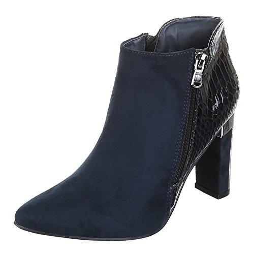 Damen Schuhe, XQ321, ANKLE BOOTS STIEFELETTEN Blau