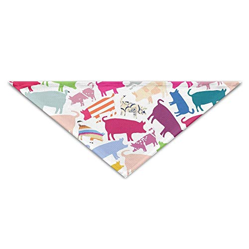 Rghkjlp Pigs Colorful Pattern Cute Pet Bandana Triangle Dog Cat Neckerchief Bibs Scarfs Accessories for Pet Cats and Baby Puppies