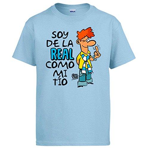 Diver Camisetas Camiseta Soy de La Real Sociedad Como Mi Tío Jorge Crespo Cano - Celeste, S