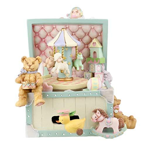 zimmer Retro Zirkus-Spieluhr-Karussell-Spieluhr, zum der Freundinnen-Kinder Weihnachten Halloween-Geburtstagsgeschenk zu senden ()