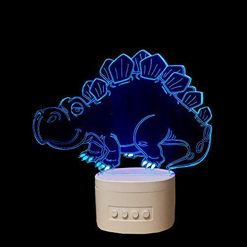 Dinosaurio 3D Luz de Noche Interruptor de Control Remoto Luz de Escritorio...