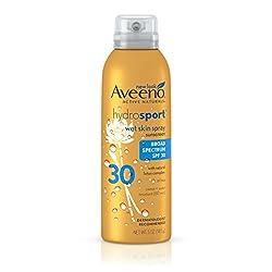 Aveeno Hydrosport SPF 30 Spray, 5 Ounce (Pack of 3)