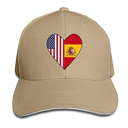 chwedischen Flagge Hälfte der USA-Flagge Liebesherz Adult Sandwich Cap Beanies ()