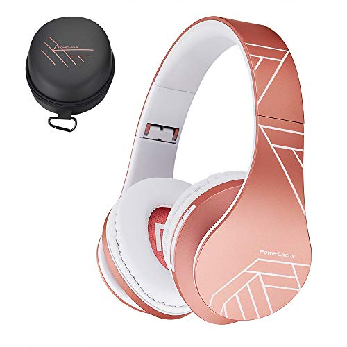 PowerLocus Casque Bluetooth sans Fil, Casque Audio stéréo Pliable sans Fil et Filaire avec Micro...