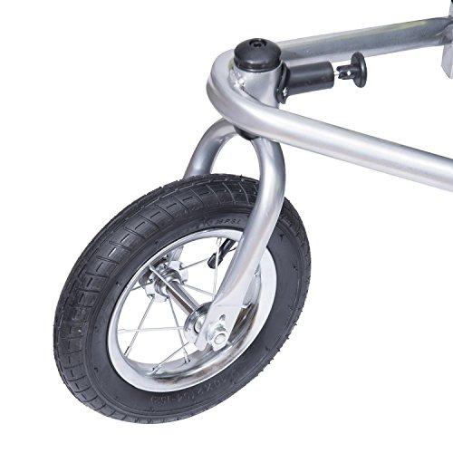 homcom 440-001GN 2 in 1 Fahrradanhänger Jogger 360° Drehbar für Kinder, grün / schwarz - 6