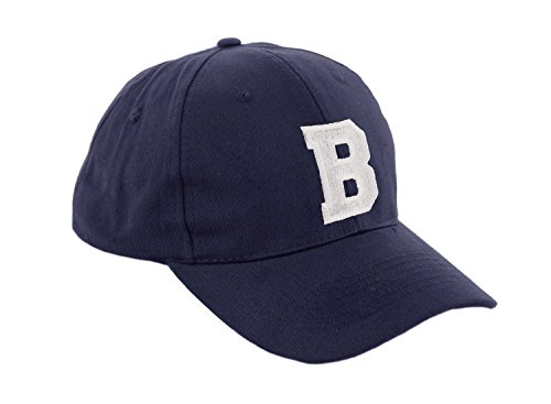 Unisex Jungen Mädchen Mütze Baseball Cap Marineblau Hut Kinder Kappe Alphabet A-Z...