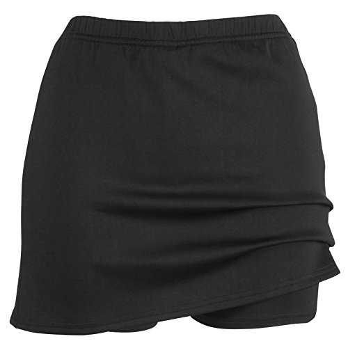 i-sports Pro Skort For Girls Performance Outer Skirt & Base Layer Under Short Black 11-12 Years