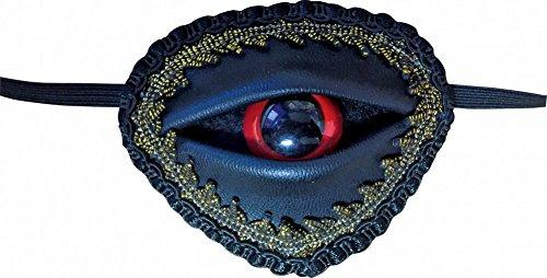 Karibik Für Der Erwachsene Kostüm Piraten - shoperama Ausgefallene Augenklappe mit rotem Auge für Piratenkostüm Fluch der Karibik Pirat Kostüm