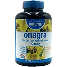ACEITE DE ONAGRA 500 MG + VITAMINA E, 420 perlas NATURMIL, no GMO,