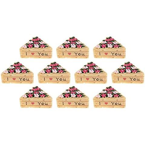 10 X Miniatura Casa Delle Bambole Bonsai