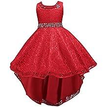 Vestido de fiesta para niñas Vestido de princesa de encaje para niñas Vestido de dama de honor de boda para niños Vestidos formales Vestido de boda del ...
