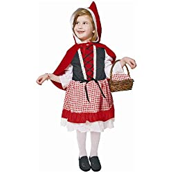 Dress Up America - Costume per travestimento da Cappuccetto Rosso, Bambina, S (4-6 anni)