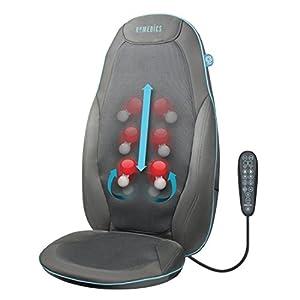 HoMedics GEL Massageauflage – Gezielte, tiefenwirksame Shiatsu Rückenmassage mit innovativer Gel-Technologie, Massage für den kompletten Rücken- und Schulterbereich, mit Wärmefunktion