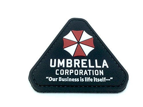 umbrella-corporation-our-business-is-life-itself-cosplay-patch-pvc-toppa-nero